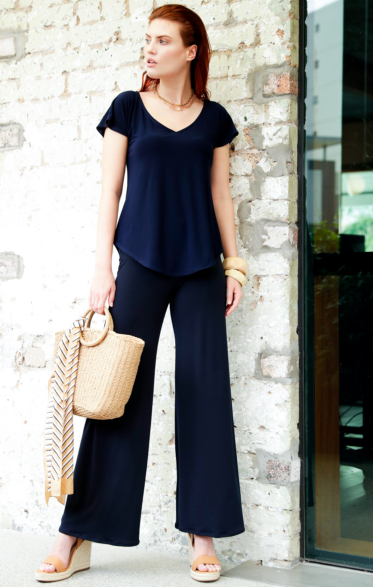 Analia Top (Navy) and Seamless Pants