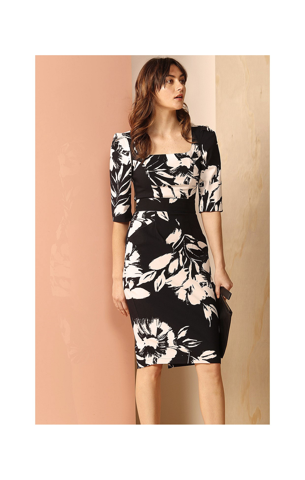 Shop dresses rumsey stretch fitted belted 34 sleeve scoop neck rumsey stretch fitted belted 34 sleeve scoop neck dress in navy white flower print mightylinksfo
