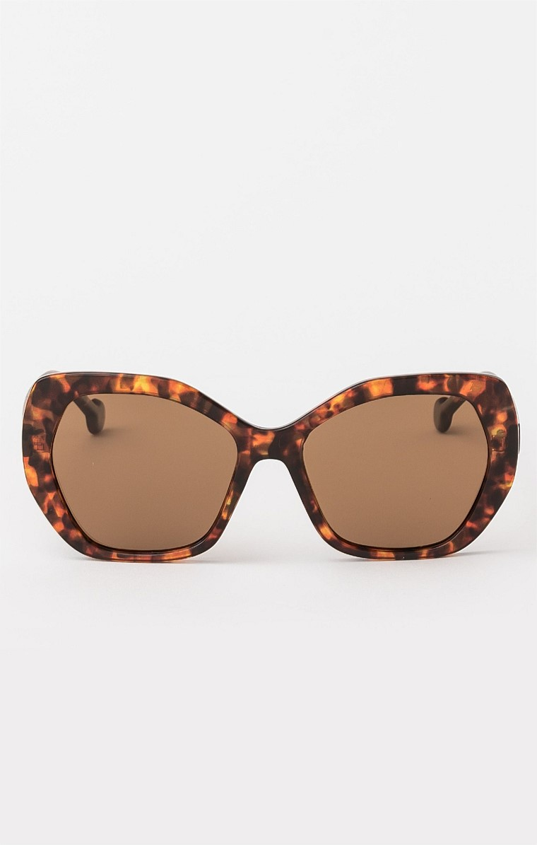 IDA SUNGLASS IN LEOPARD BROWN