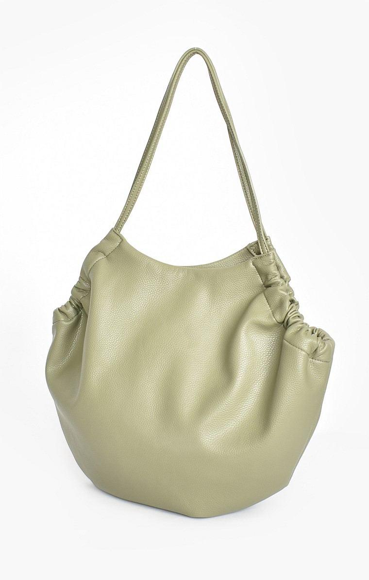 VEGAN LEATHER TOTE BAG IN SAGE