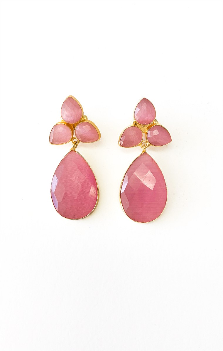 AUDREY EARRING IN PINK