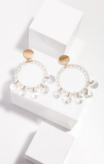 MYSTIC LOOP EARRINGS IN CLEAR