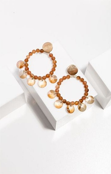 MYSTIC LOOP EARRINGS IN AMBER