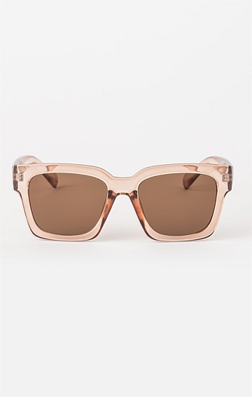AVERY SUNGLASS IN LIGHT BROWN