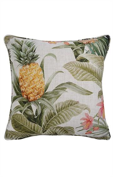 ALMERIA REVERSIBLE INDOOR CUSHION IN MOSS TROPICAL PRINT