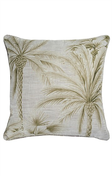 CHUSAN REVERSIBLE INDOOR CUSHION IN MOSS PRINT
