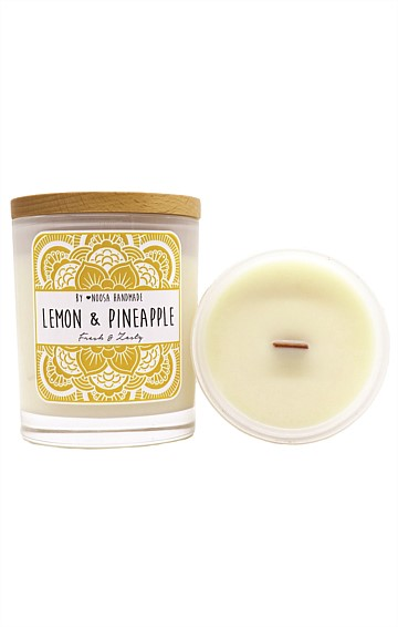 JAR CANDLE IN LEMON AND PIENAPPLE SCENT