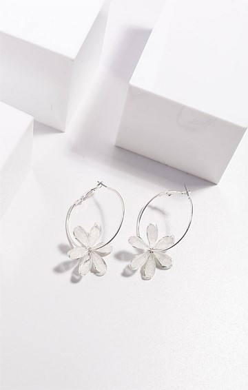 BLOOMING EARRING IN CLEAR