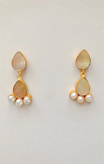 TITANIA DROP EARRING IN CRYSTAL