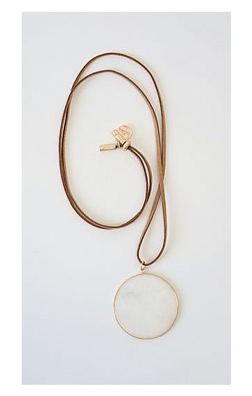WILDSIDE DROP LONG NECKLACE IN WHITE