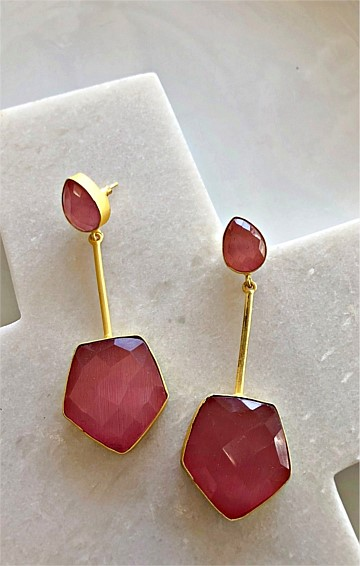 VIVIENNE DROP EARRING IN PINK