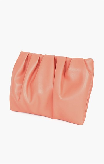 ABBEY MULTI PLEAT POUCH IN ROSE