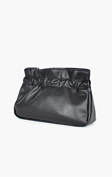 ELISE GATHERED CROSSBODY BAG IN BLACK