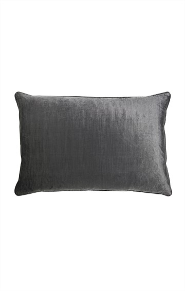 ROMA VELVET INDOOR CUSHION IN CHARCOAL