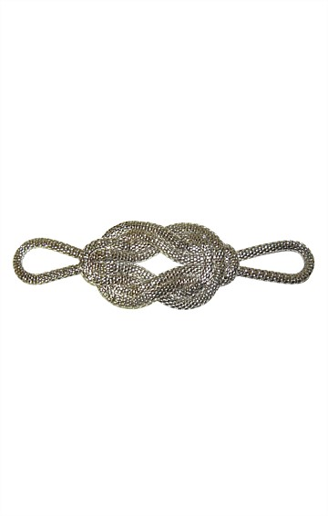 DECO KNOT BUCKLE AND ADJUSTABLE FABRIC TIE BELT